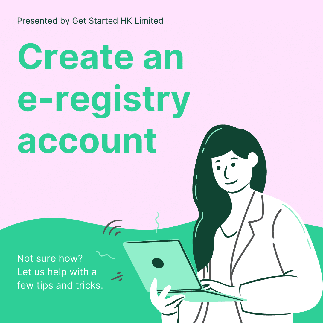 How to create an e-registry account at the Hong Kong Company Registry