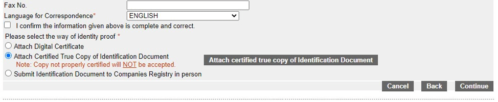 how to create an e-registry account - step 5a