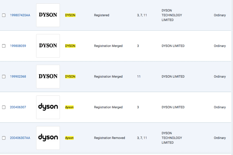 Result of searching the word Dyson