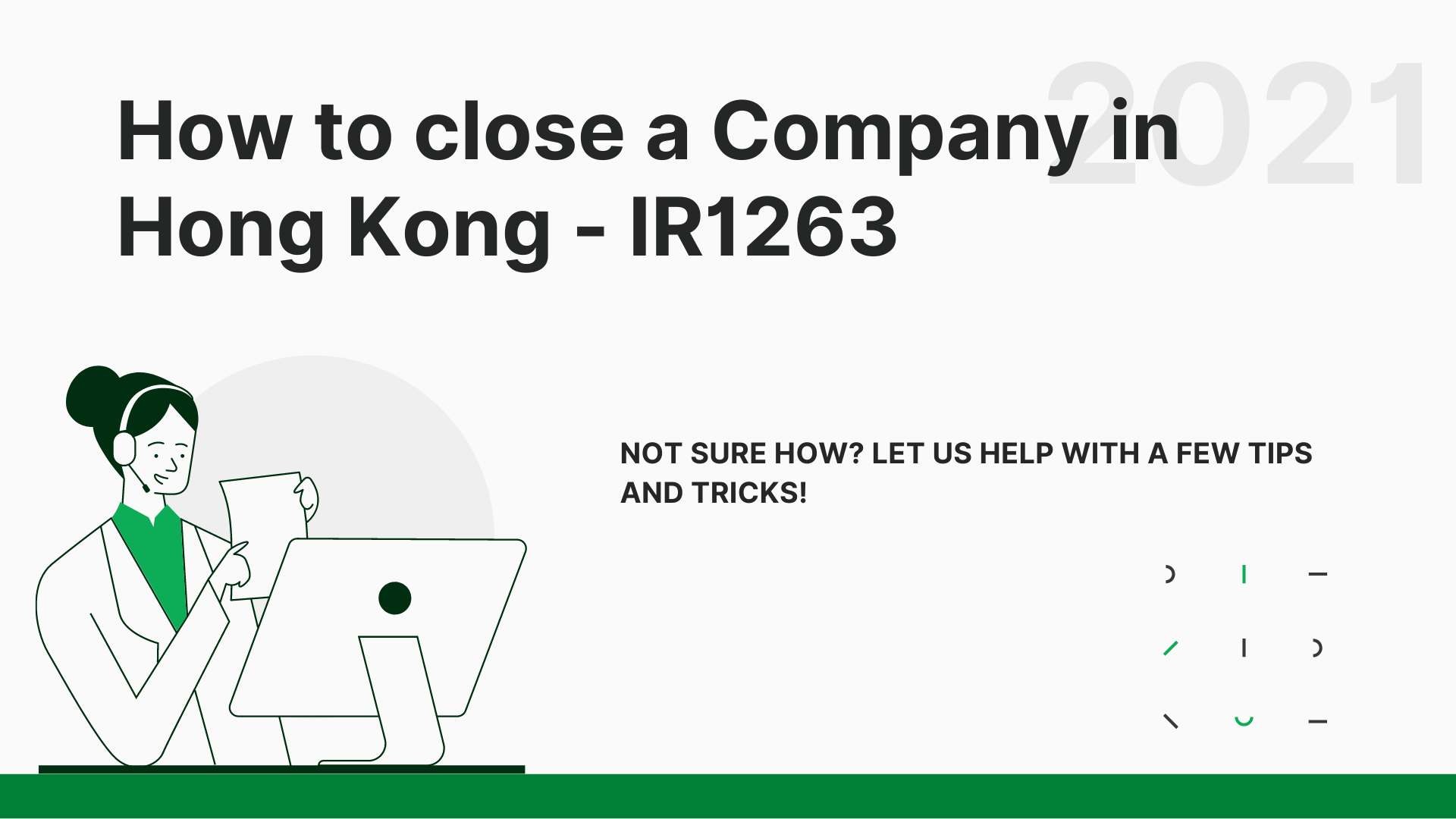 IR1263 - How to close a company in Hong Kong